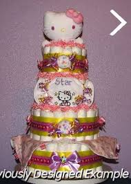 baby diaper cakes kitty 4 tier diaper cake