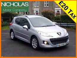 peugeot history 2011 peugeot 207 sw 1 6 hdi active 20 tax service history 1