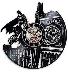 designer wall clocks online india vinyl evolution batman dark knight wall clock black wall clock