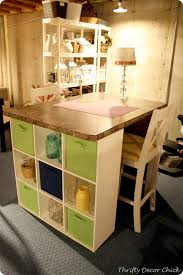 Diy Craft Desk Diy Craft Table Craft Storage Cubes And Countertop