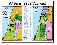 middle east map moses time then now bible maps transparencies and powerpoint editions at