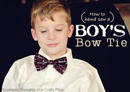 how to sew a boys bow tie the frugal