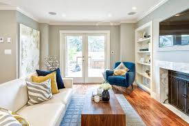 Oversized Floor L Neutral Living Room With Pops Of Color Living Room Contemporary