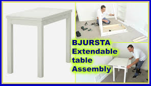 Ikea Masa by Ikea Bjursta Extendable Table Youtube