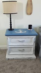 Hand Painted Love Anchors The - custom hand painted coastal beach night stand with painted anchor