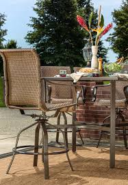 Dining Patio Set Rochester Woven 5pc Bar Height High Dining Patio Set La Z Boy
