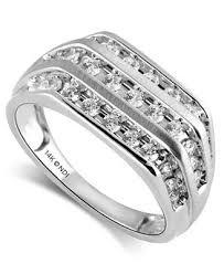 Macys Wedding Rings by Men U0027s 14k White Gold Diamond Band Ring 1 Ct T W Rings