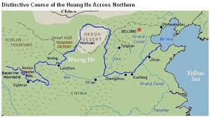 rivers in china map yellow river changing course china water risk