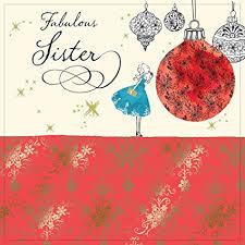 imagenes de navidad hermana twizler tarjeta de felicitación de navidad para hermana con