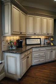 distressed kitchen furniture great idea of distressed kitchen cabinets with brown floor 9776