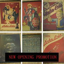 fallout posters 3 4 home wall decoration vintage posters coke