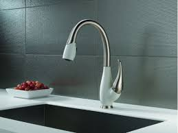 faucet com 9158 sw dst sd in stainless and snowflake white by delta