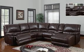 Sectional Reclining Sofas Leather Furniture Blue Leather Sectional Sofa And White Cushions Added