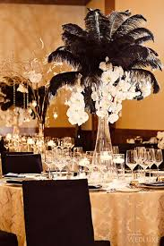 black and gold wedding ideas gold black and feather wedding reception ideas topup wedding ideas