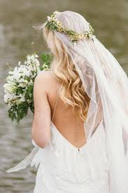 bridal flower simple and stunning thin bridal flower crown weddceremony