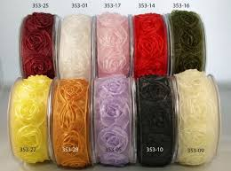 ribbon by the yard may arts sheer woven rosettes by the yard the st simply