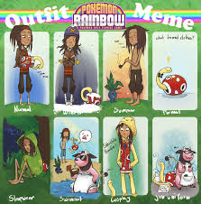 Pokemon Memes En Espa Ol - pokemon rainbow costume meme by morthern on deviantart