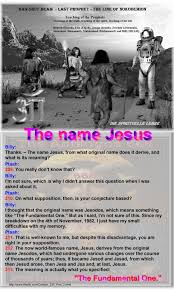 the fundamental one u201d billy thanks u2013 the name jesus from what