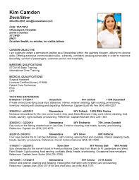Resume Service Crew Super Yacht Resume