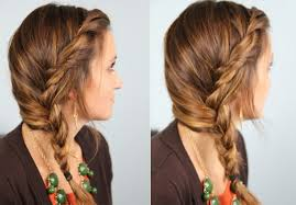 cute side braided hairstyle for girls easy loose braid for long