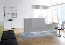 office table simple white reception desk white round reception