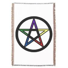 Pentacle Rug Wiccan Throw Blankets Zazzle