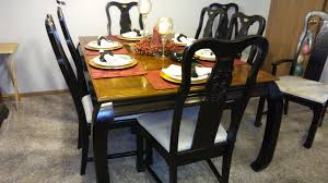 Asian Dining Room Set Table Chairs Hutch Kelliedeals