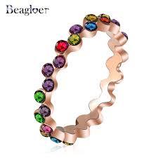 aliexpress buy beagloer new arrival ring gold aliexpress buy beagloer brand free shipping rainbow ring