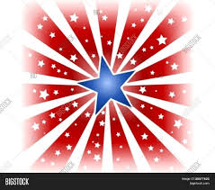 Red White Flag With Blue Star Usa 4th July Red White Star Burst Vector U0026 Photo Bigstock