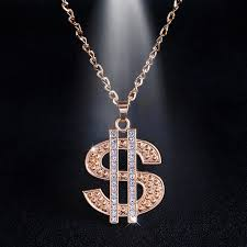 men crystal necklace images Hip hop jewelry gold chain long pendant necklace money gold jpg