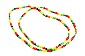 color bead necklace images Rasta color waist beads exotic body beads jpg