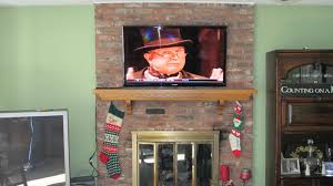mounting lcd tv brick fireplace into stone install above gas