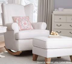 wingback rocker nursery rocking chair ikea gray home ideas fabric