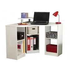 bureau d4angle bureau bobby bureau d angle classique blanc l 94 cm maison