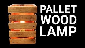 How To Make Wooden Desk Lamp by How To Make A Pallet Wood Lamp Youtube