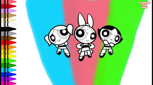 learn colors the powerpuff girls bubbles blossom buttercup
