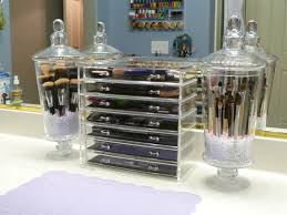bathroom makeup storage ideas makeup organizer countertop ideas together with dust free brushes
