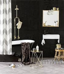 Curtain In Bathroom Trending In Bathroom Decor Colorful Chevron Patterns U2013 Rotator Rod