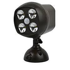 battery powered security light waterproof 4 led wireless motion sensor light spotlight battery