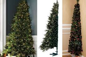 half christmas tree half christmas tree is the trend this season