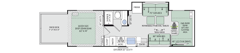 class c motorhome floor plans floor plans outlaw class c 29j