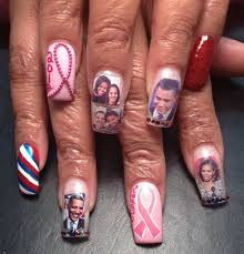 day 299 obama supporting breast cancer nail art nails magazine