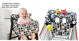Baby High Chair Cover Amazon Crocnfrog 2 In 1 Shopping Cart Cover High Chair Cover