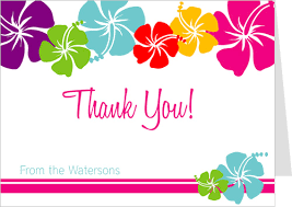thank you card hawaiian thank you cards luau thank you cards