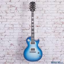 light blue gibson les paul 2006 gibson les paul goddess electric guitar sky blue reverb