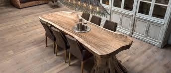 meuble cuisine ind駱endant bois boomstamtafels houweling interieur eigentijds klassieke