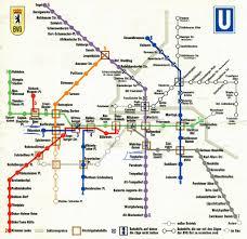 Berlin Map Berlin U Bahn Subway Map 1970 A Map Of Berlin U0027s U Ba U2026 Flickr