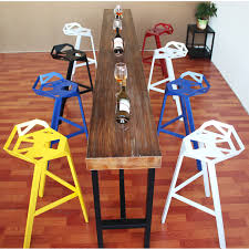 iron loft wood back bar chairs retro style leisure industry