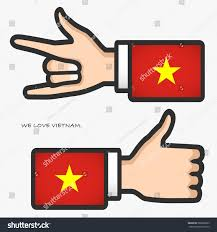 Vietnam Flag Meaning Ily Thumb Hand Sign Long Arm Stock Vector 280602893 Shutterstock