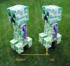 Minecraft Enderman Halloween Costume Telescoping Minecraft Creeper Costume Creeper Costume Costumes